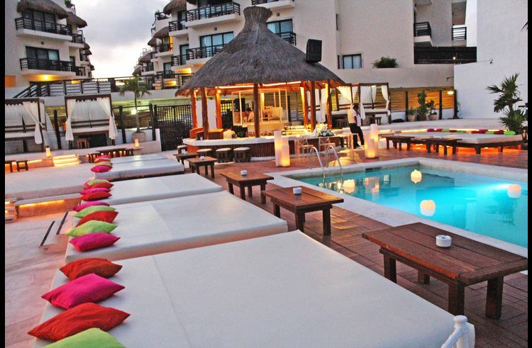 Kool Beach club at Mamita's beach with direct access from our building. Pool, dining, massage.