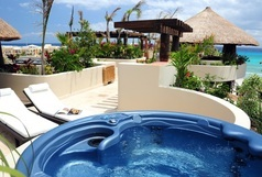 El Taj Oceanfront - Winner of Top 25 in Luxury in All of Mexico -Penthouse 2/2 Jacuzzi BBQ Beach Club Promo #357