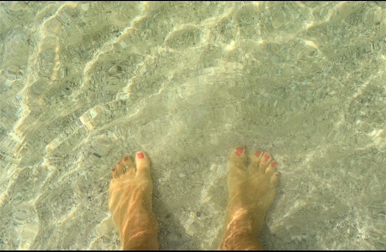 Crystal clear ocean